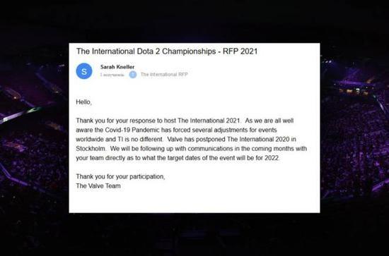 【蜗牛电竞】TI11或将推迟至2022年举办