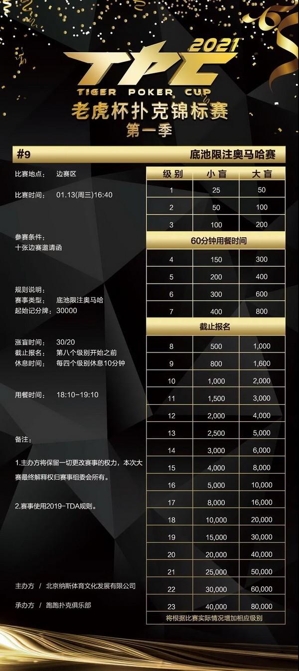【蜗牛扑克】总保底奖励1200万!2021 TPC老虎杯第一季强势来袭!