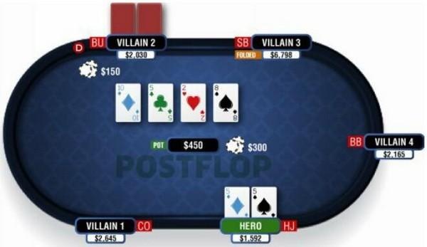 【蜗牛扑克】德州扑克在干燥公共牌面游戏暗三条