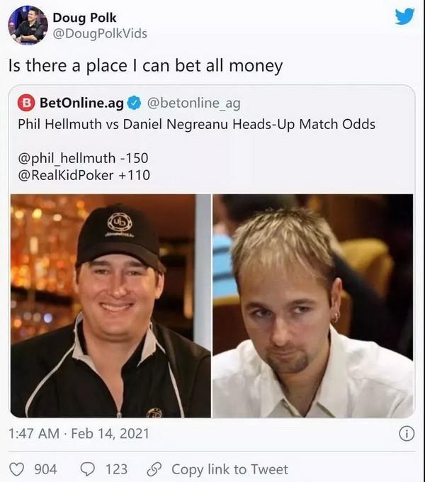 【蜗牛扑克】立陶宛大佬Tony G挑战Phil Hellmuth!就一个条件 全球直播!
