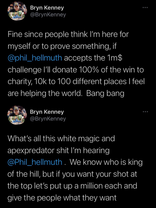 【蜗牛扑克】Bryn Kenney向Hellmuth发起单挑战书 Venmo再爆丑闻