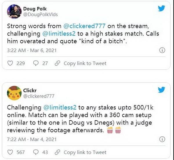 【蜗牛扑克】Doug Polk怀疑Fedor Holz vs limitless单挑有猫腻