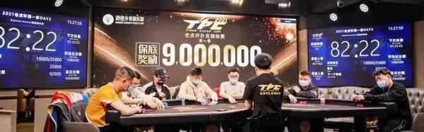 【蜗牛扑克】2021 TPC老虎杯 | 主赛事第三轮26人晋级,林思丞以460w记分量领先!